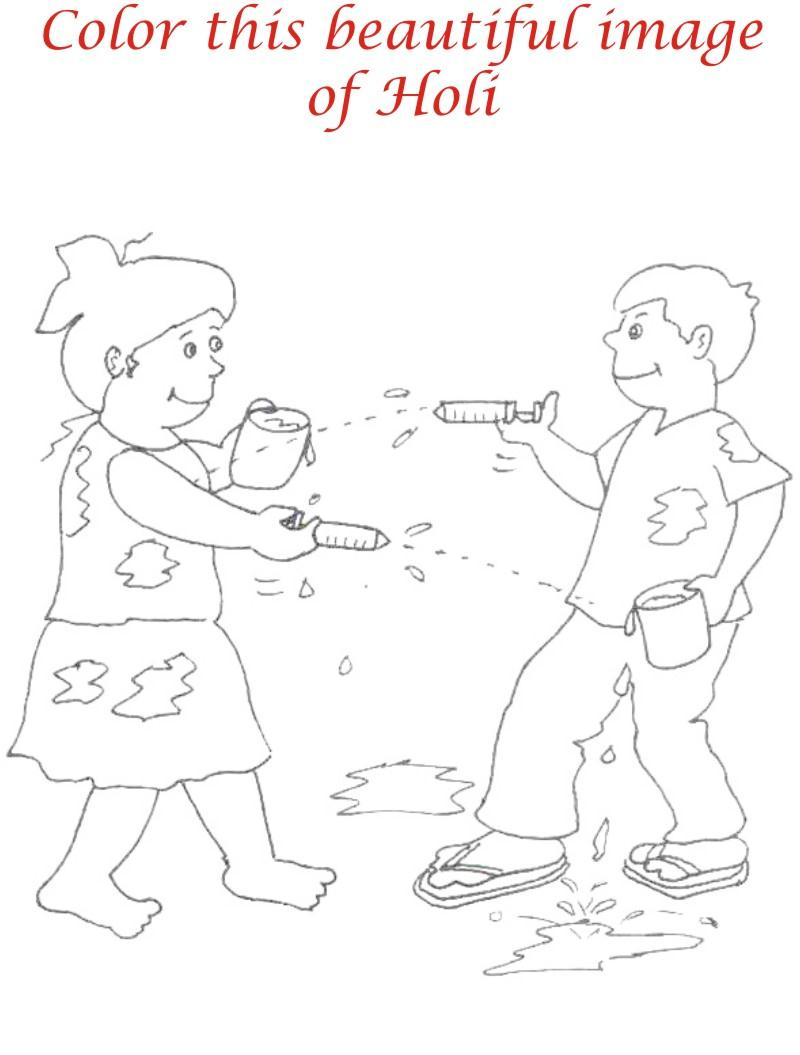 Holi Coloring Page Coloring Home