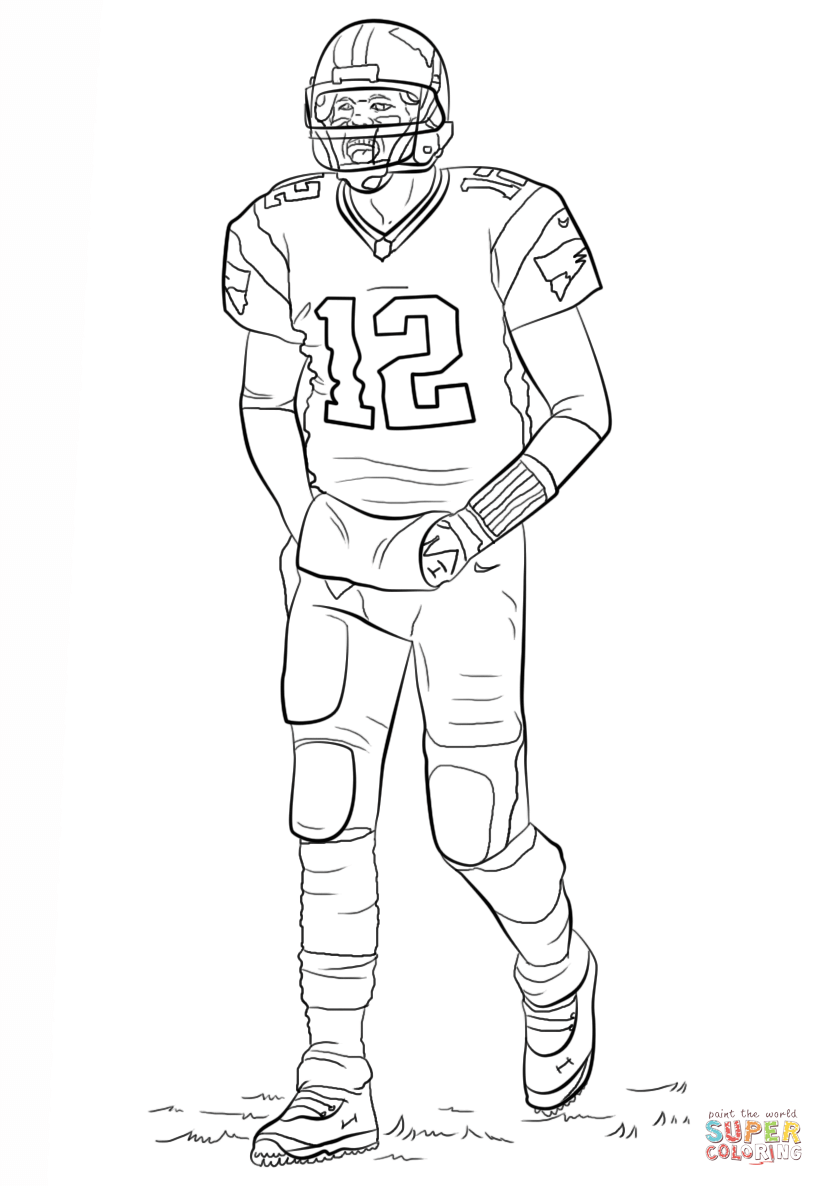 tom brady coloring pages coloring home