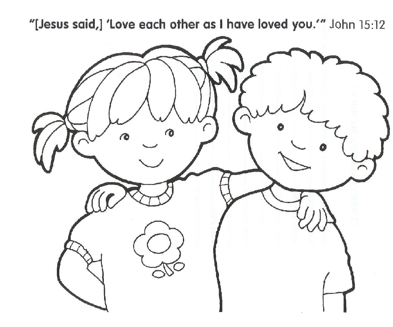 children christian coloring pages - photo#13