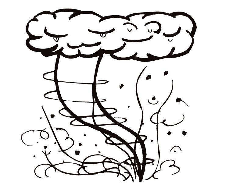 Tornado Coloring Pages 19 Pictures Colorine Net 11923