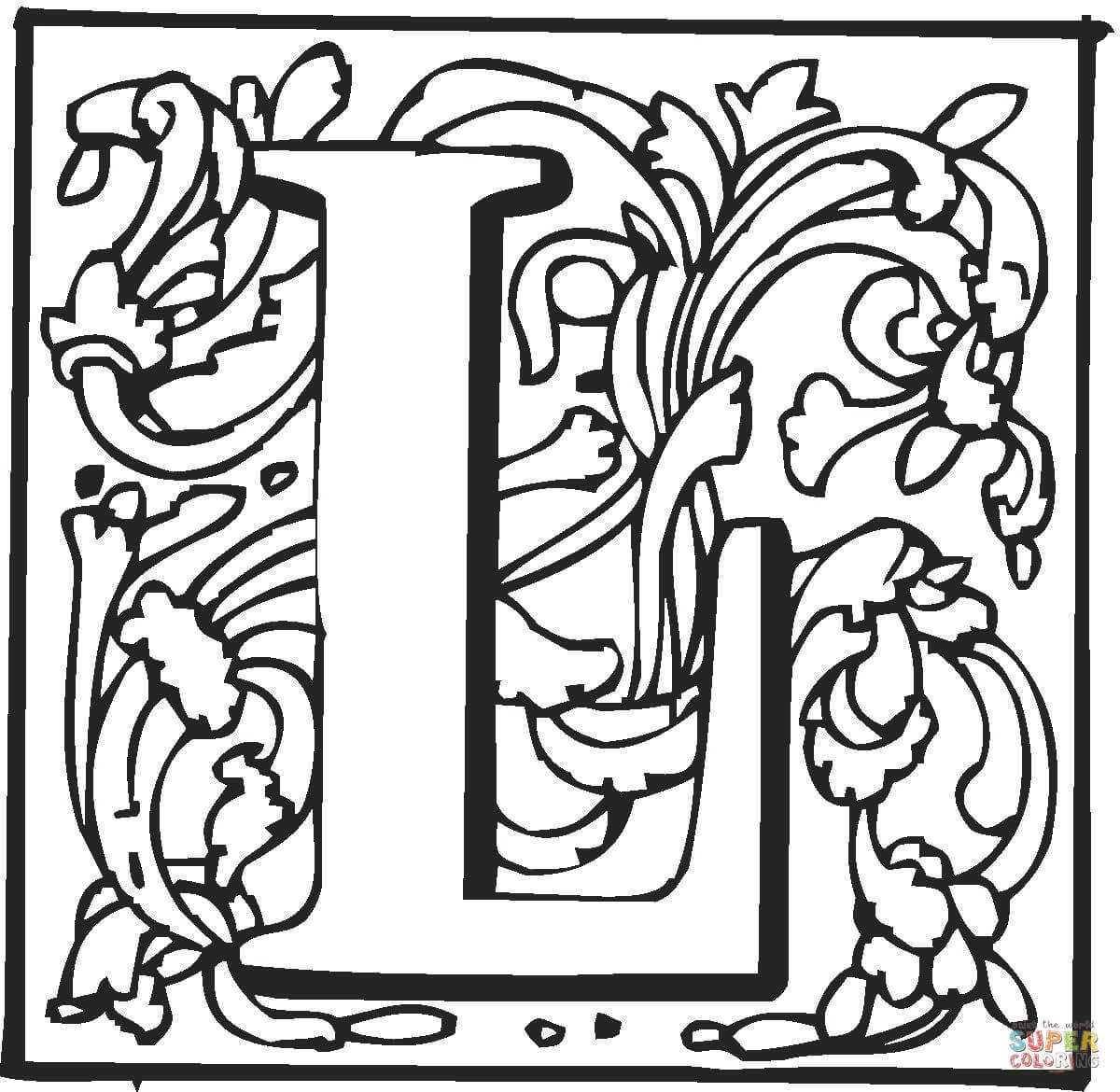 Letter L coloring page | Free Printable Coloring Pages