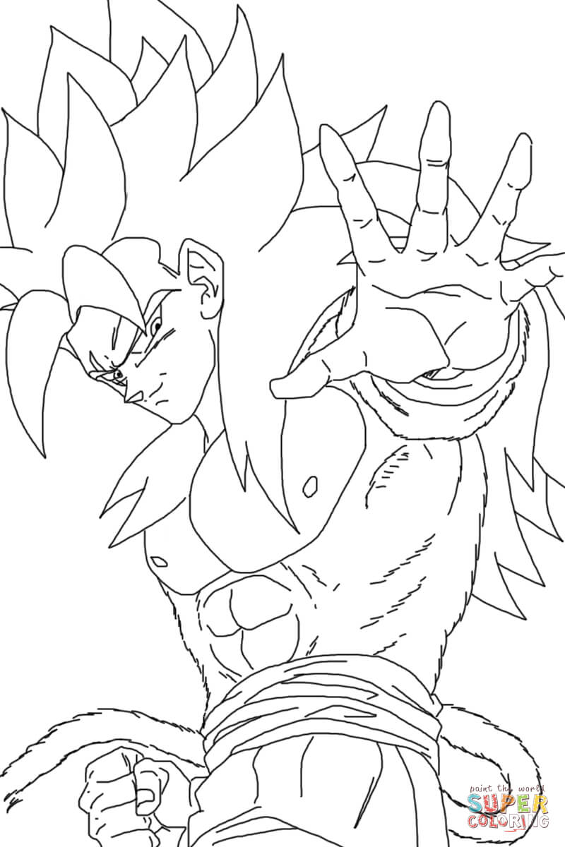 Super Saiyan 4 Coloring Pages Coloring Home