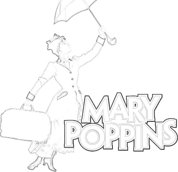 Mary Poppins Coloring Pages Printables - Coloring Home