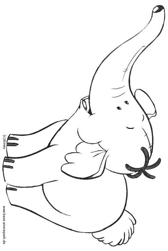 printable heffalump coloring pages - photo#11