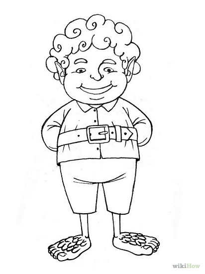 hobbit character coloring pages - photo#27