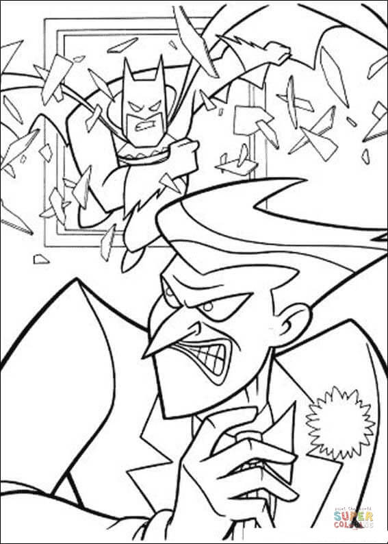 Batman and Joker coloring page | Free Printable Coloring Pages