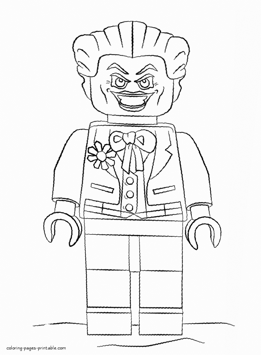 Lego Joker Coloring Page Awesome Joker Coloring Page ...
