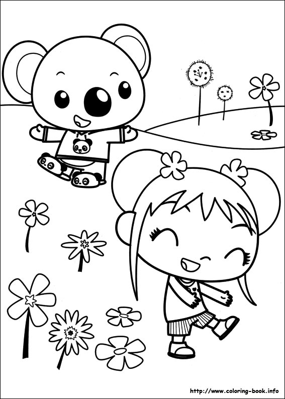 ni hao kai lan coloring pages on coloring bookinfo - Coloring Book Info