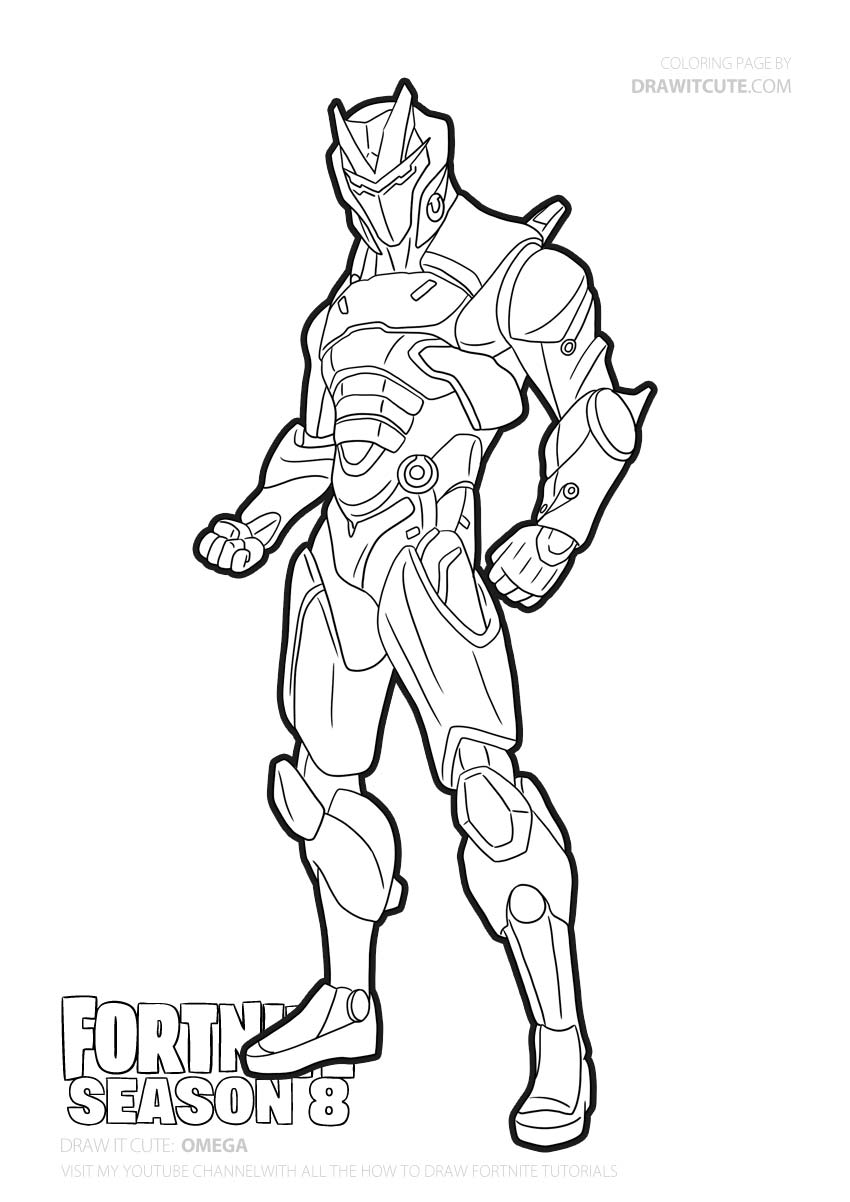 Omega | Fortnite coloring page - Color for fun