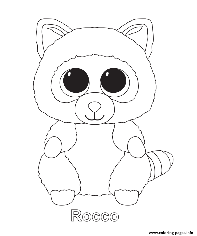 - Rocco Beanie Boo Coloring Pages Printable - Coloring Home