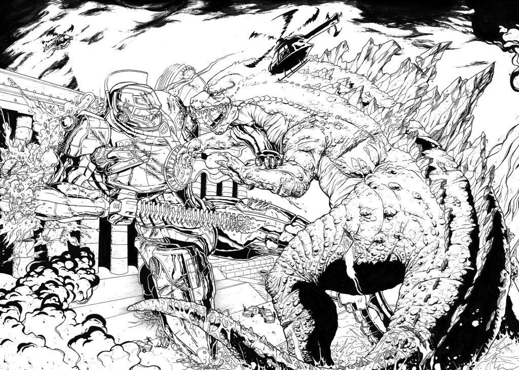 Godzilla 2014 Coloring Page AZ