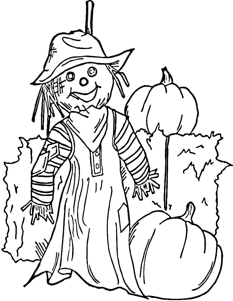 Scarecrow Coloring Pages For Kids Coloring Home