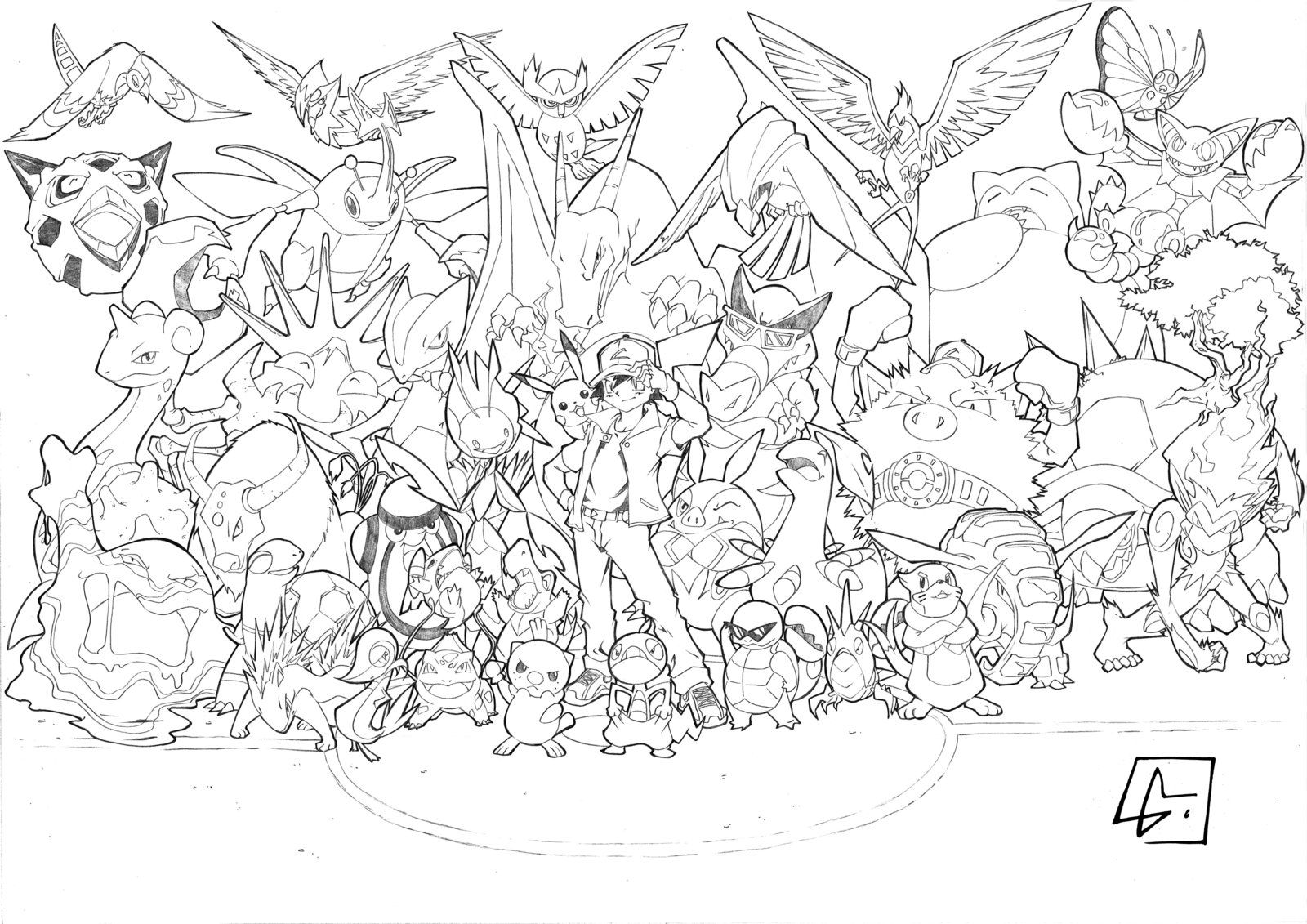 pokemon group coloring pages - photo#6