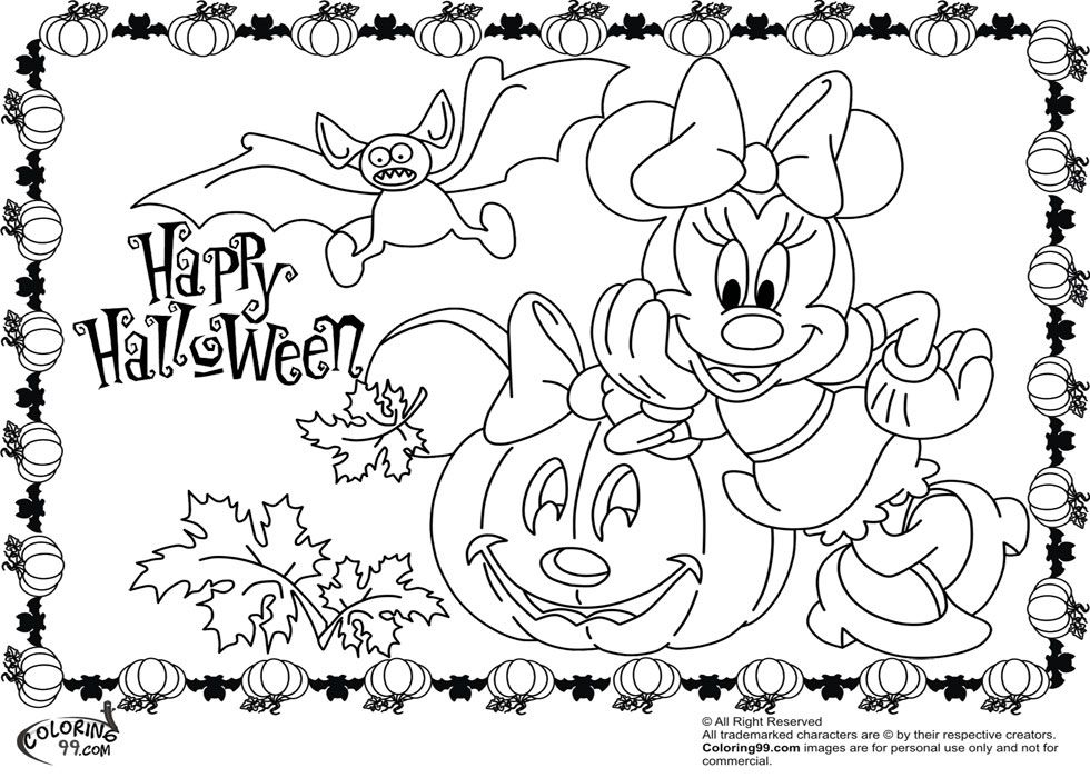 Comments Minnie Mickey Mouse Coloring Pages Halloween - Colorine ...