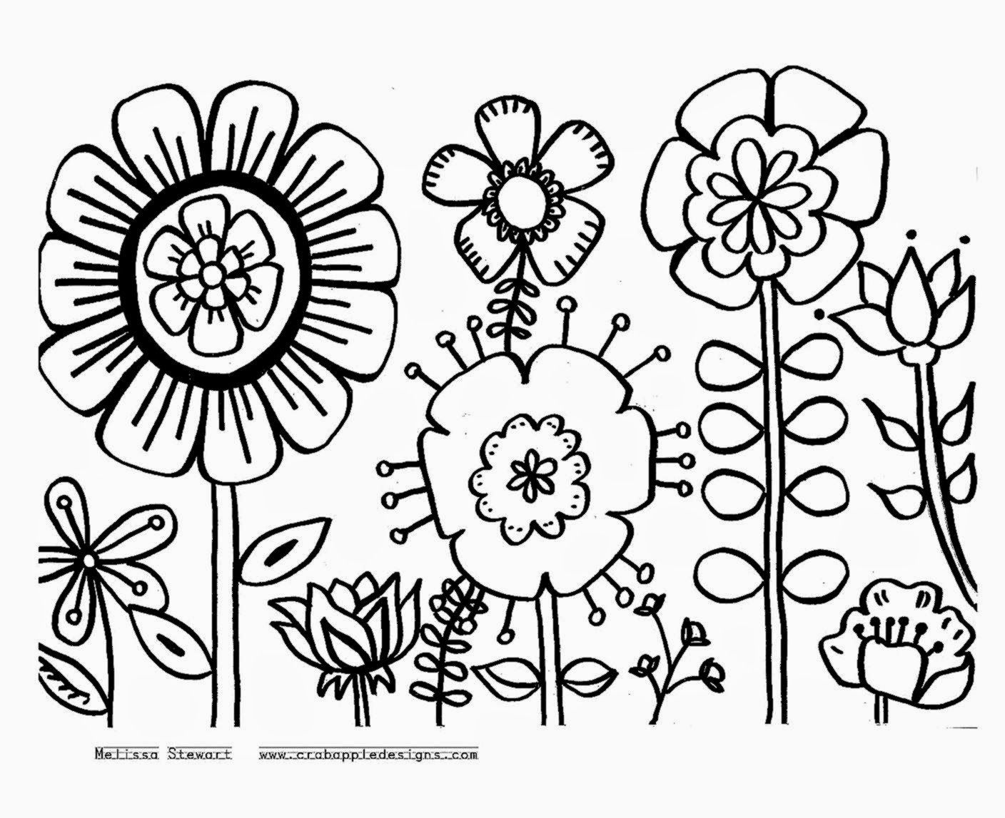 Flowers Coloring Sheets | Free Coloring Sheet