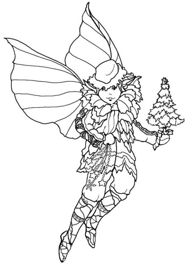 Christmas Coloring Pages Elf On
