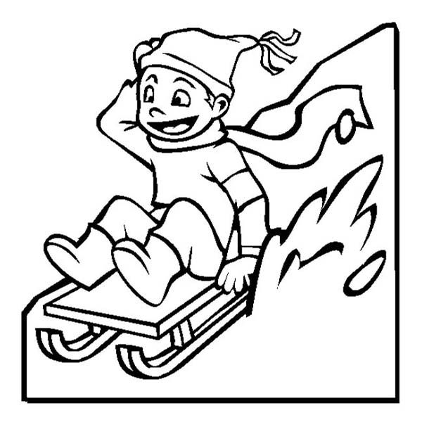 Winter Coloring Pages Sledding | Coloring pages, Coloring pictures for  kids, Coloring pictures