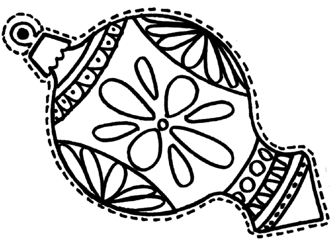 Christmas Ornaments Coloring Pages Printable - Coloring Home