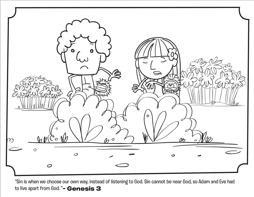 Free Bible Coloring Pages Of Adam And Eve - Coloring Home