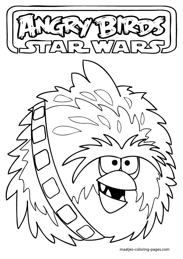 Angry Birds Star Wars Coloring Pages Printable