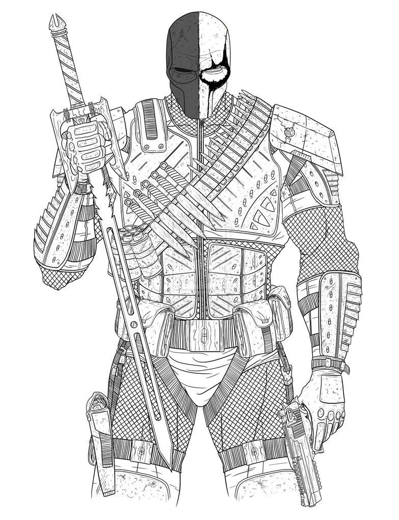 Free Deathstroke Coloring Pages Arkham Origins 5667 Deathstroke