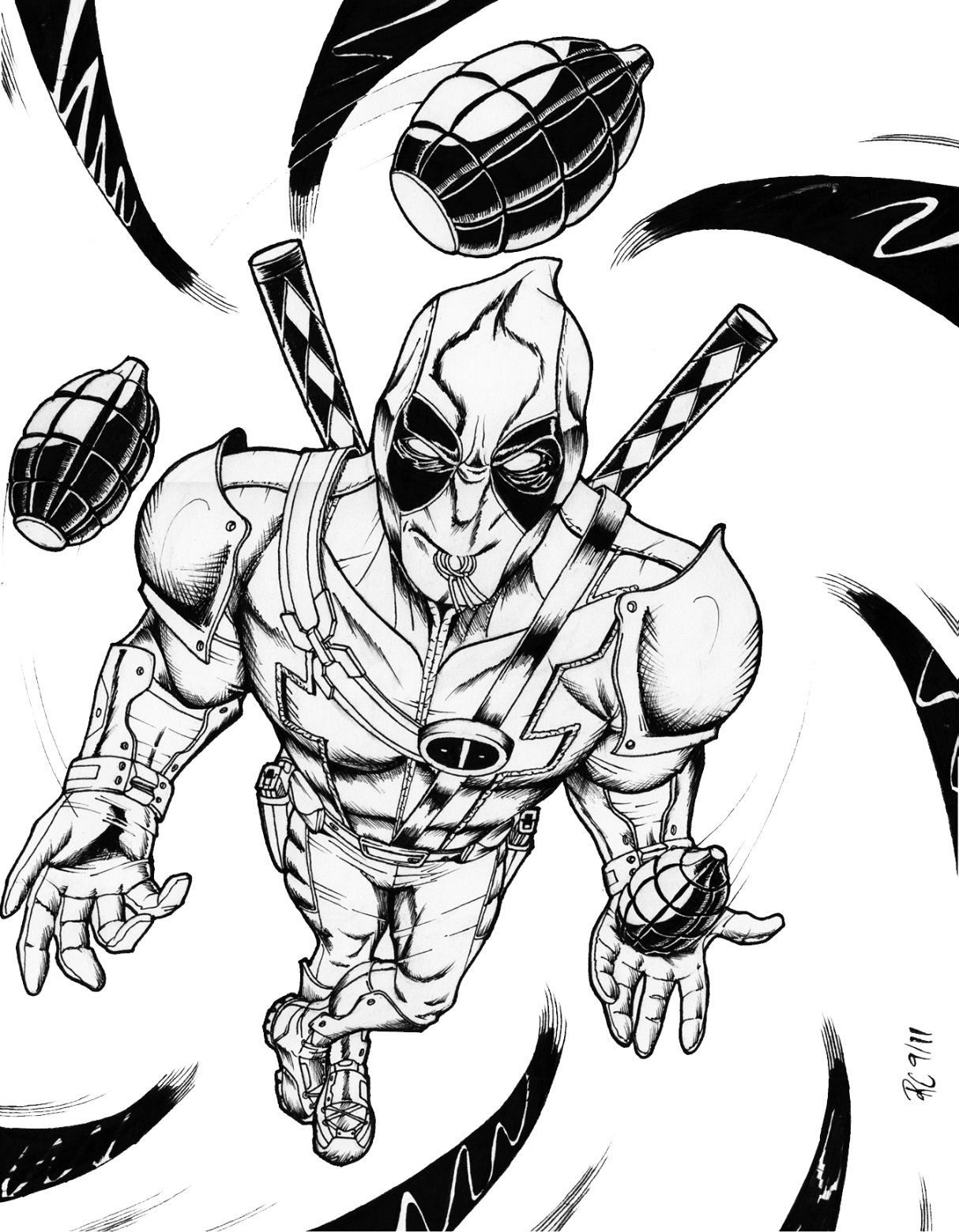 Deadpool coloring pages printable coloring home for Deadpool printable coloring pages