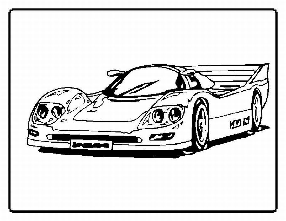 simple coloring pages cars - photo#33