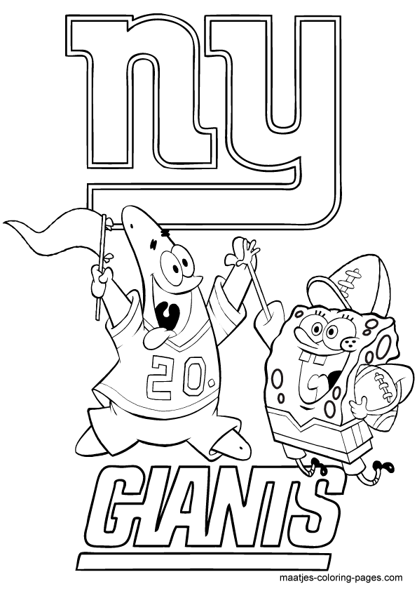 giants football coloring pages - photo#6