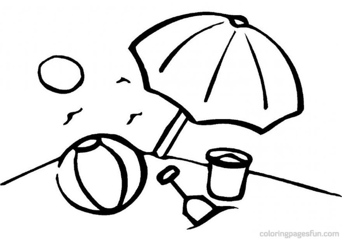 coloring pages and beach - photo#30