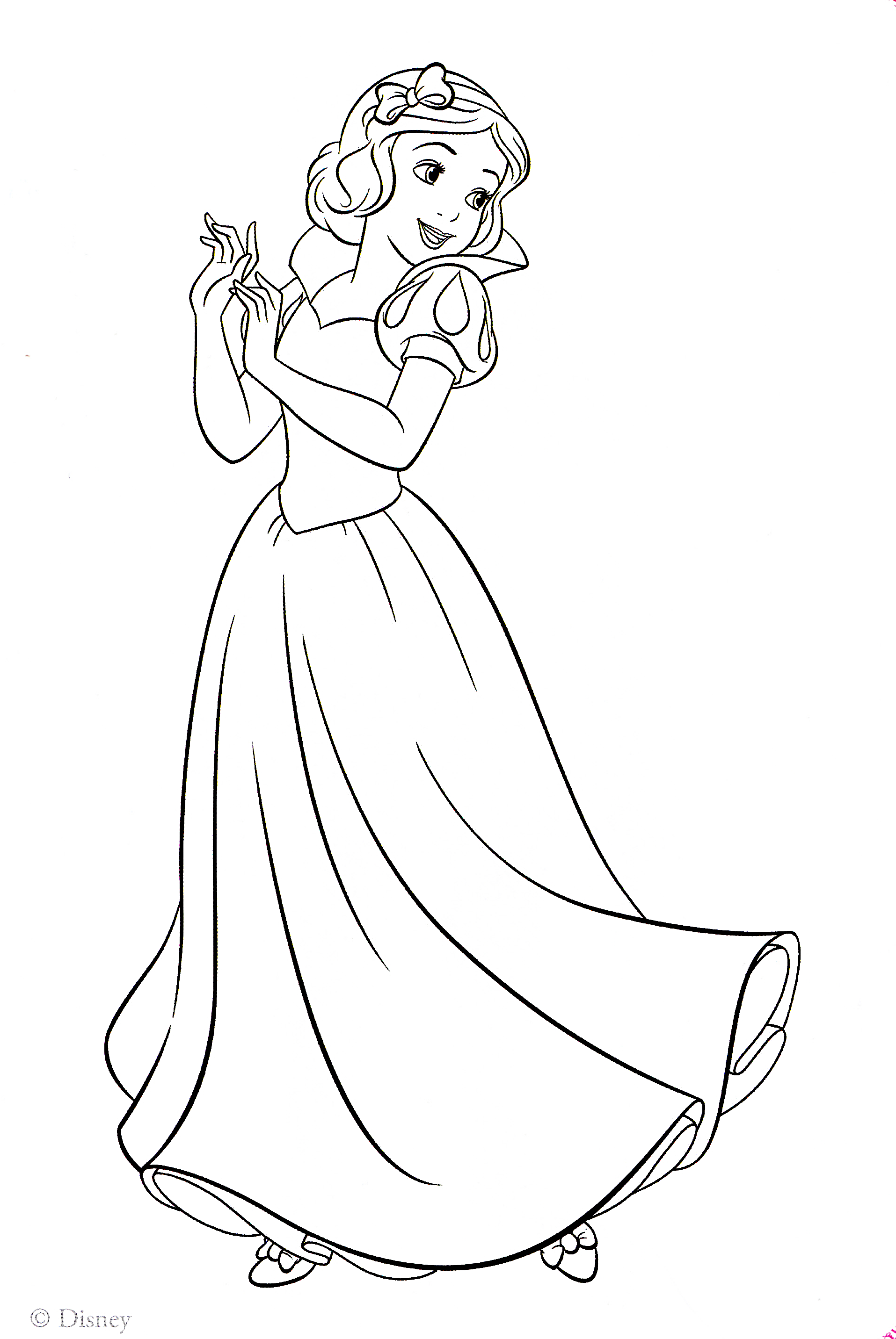 Disney princess coloring pages snow white az coloring pages for Snow white coloring pages
