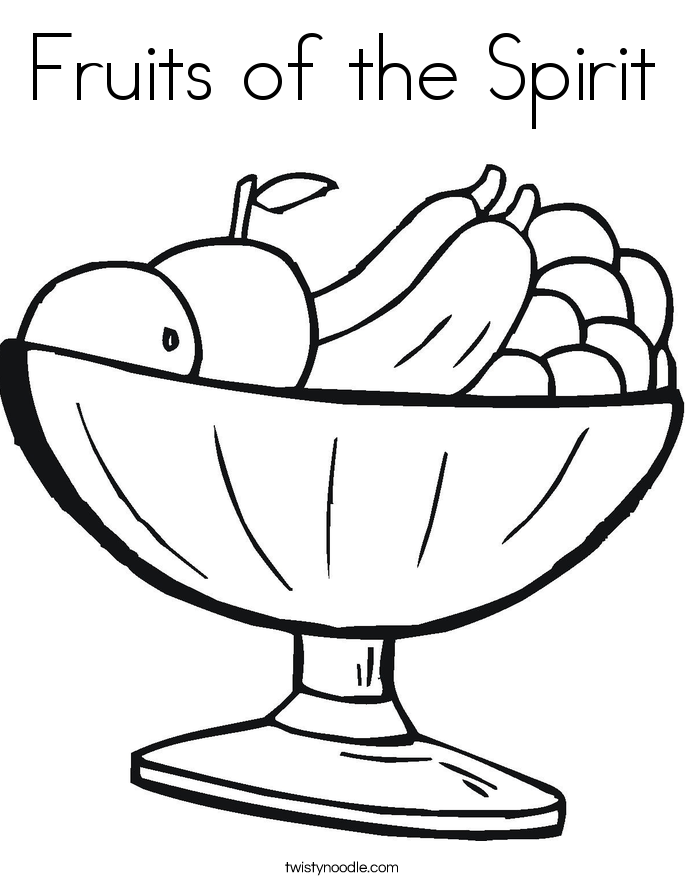 Fruits of the Spirit Coloring Page - Twisty Noodle