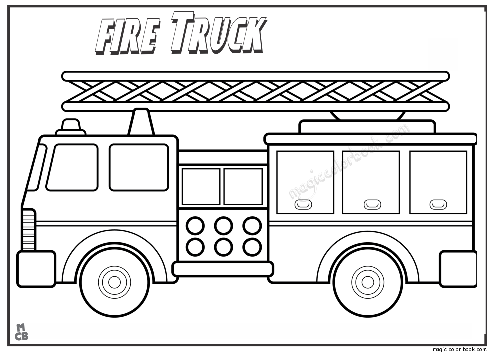 Free Printable Fire Truck Coloring Pages