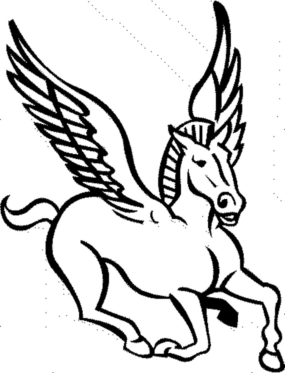 Coloring pages of pegasus coloring home for Pegasus coloring pages