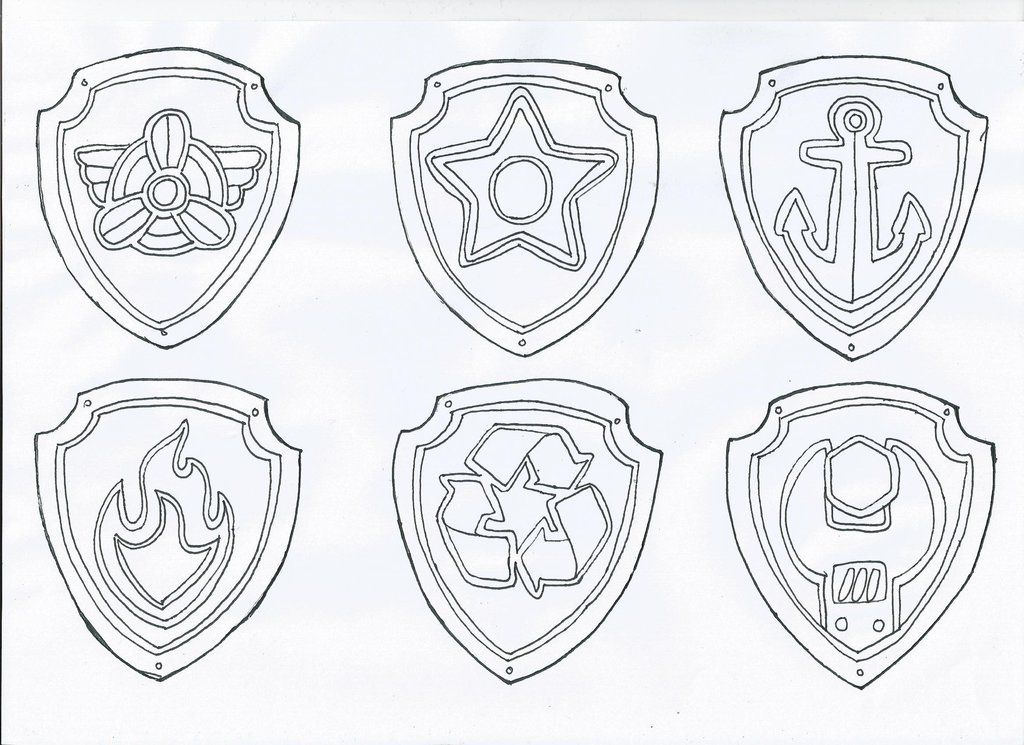 It's just an image of Selective Paw Patrol Badge Template Printable