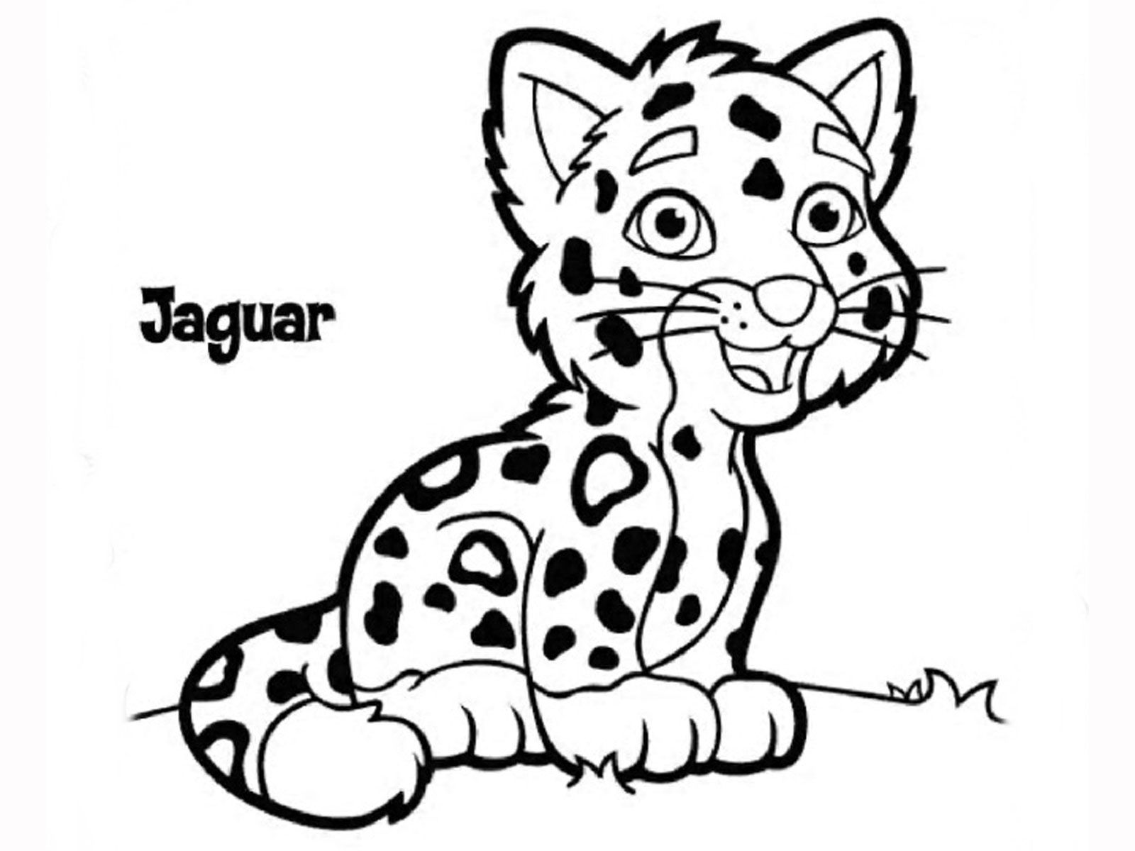 Coloring pages jaguar