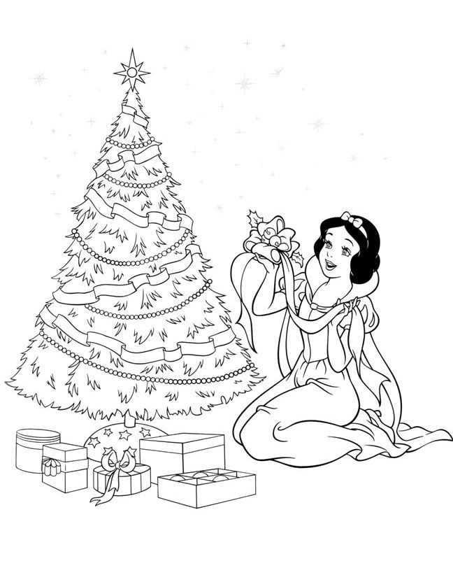Disney Princess Coloring Pages Snow White