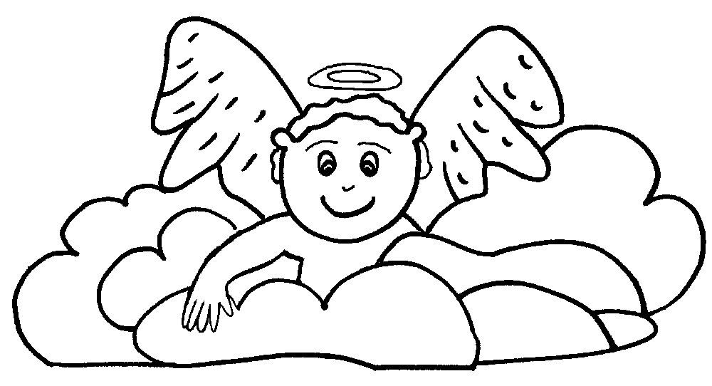 Angel Coloring Pages Pdf : Coloring pages angels angel clipart art works