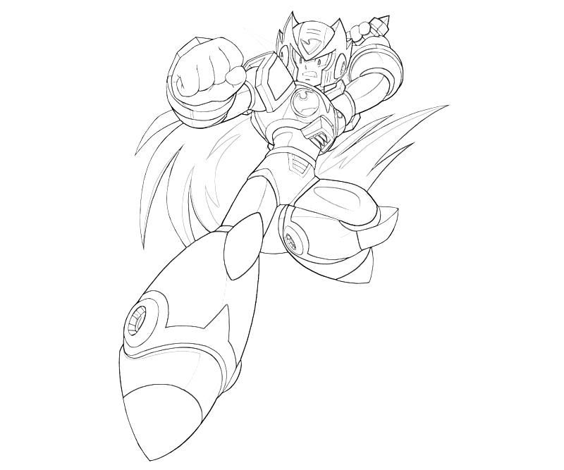 mega man coloring pages free - photo#36
