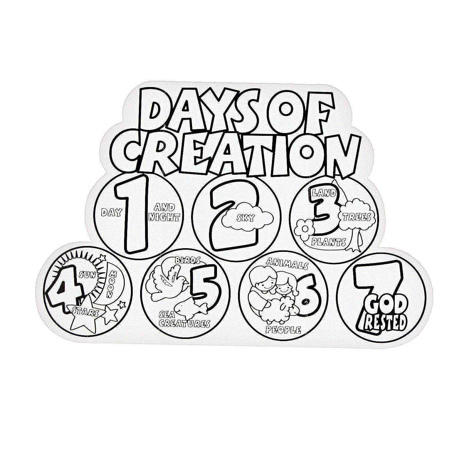 7 Days Of Creation Coloring Pages Free 3 Jpg Coloring Home