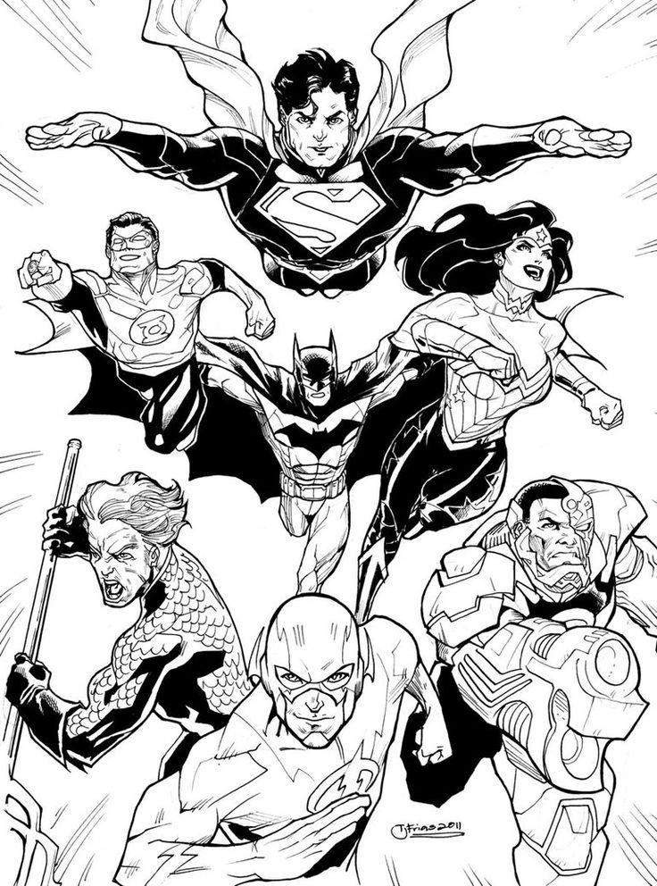 Free Justice League Coloring Pages