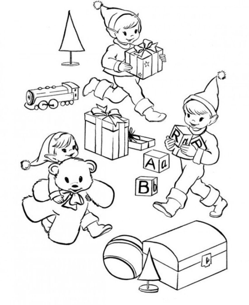 Cute Elf Coloring Pages AZ Coloring Pages
