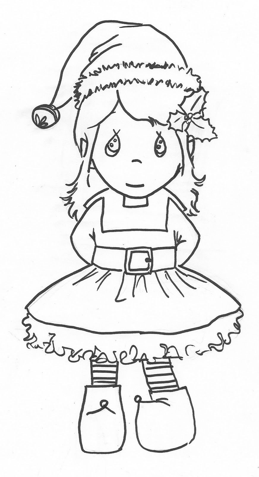 Cute Elf Coloring Pages - Coloring Home