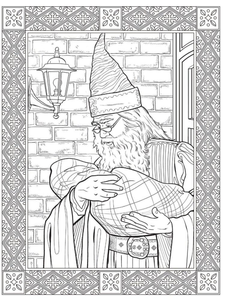 Coloring Pages For Adults Harry Potter : Harry potter adult coloring pages home