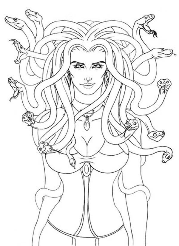 Medusa Coloring Page Coloring