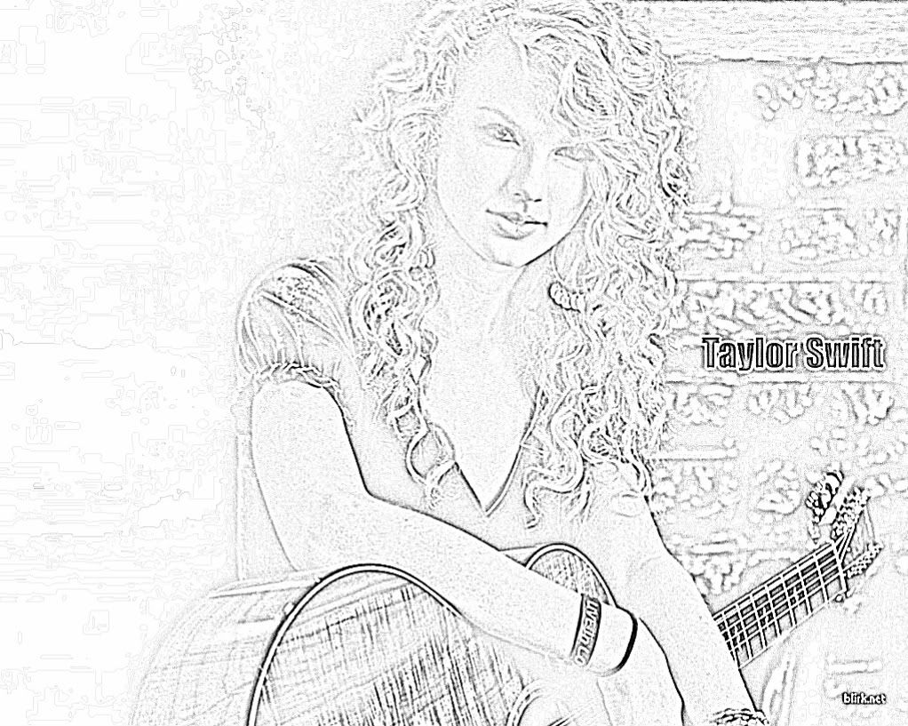 Taylor swift free printable coloring pages coloring home for Taylor swift coloring pages