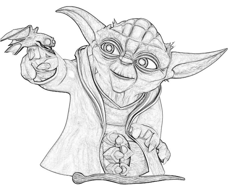 15 Pics Of Yoda Face Coloring Page