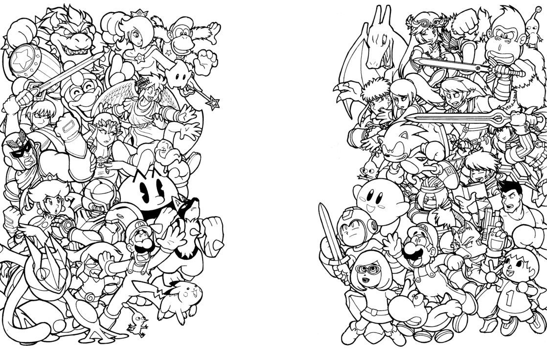 ssbb coloring pages - photo#10