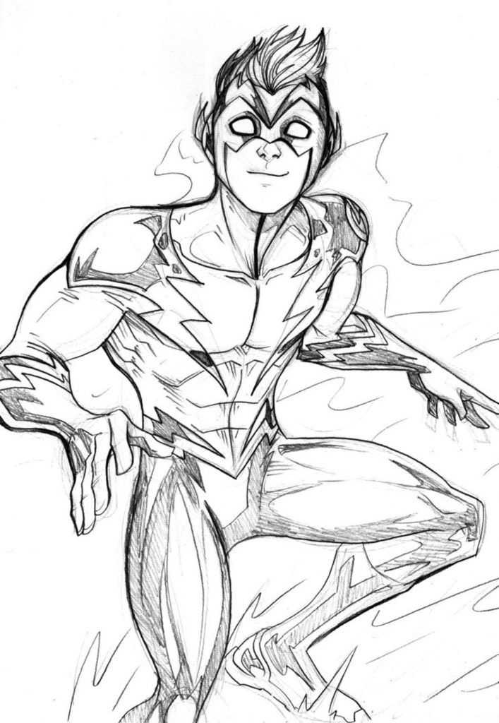 superhero the flash coloring pages - photo#17