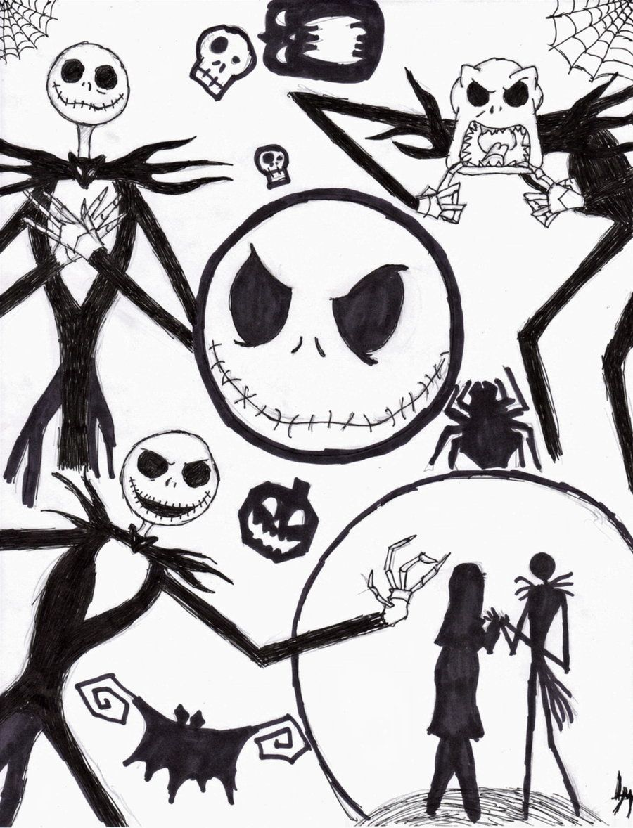 Jack Skellington Coloring Page Coloring Home Skellington Coloring Pages