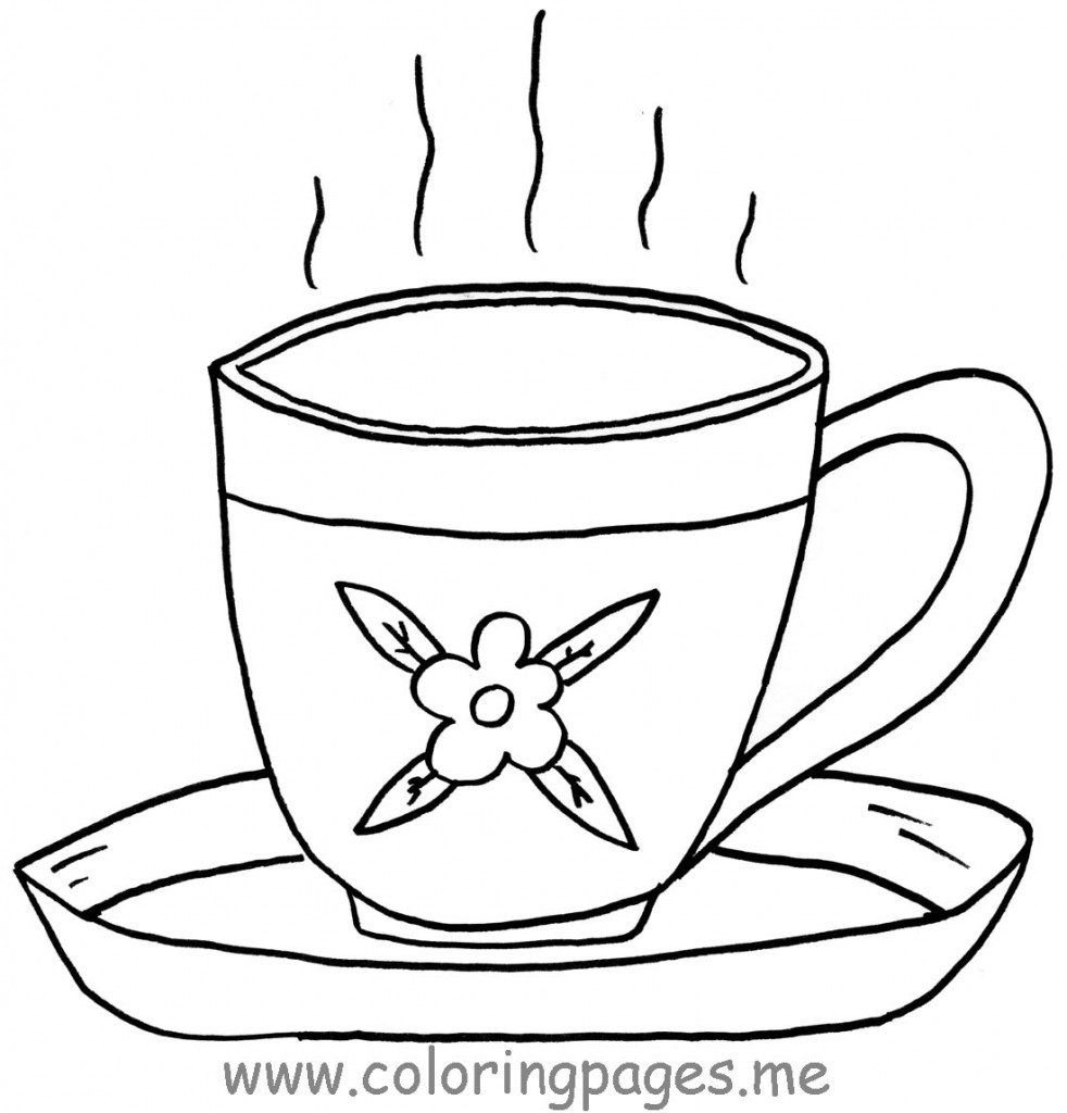 free coloring s of teacup tea cup coloring page in uncategorized